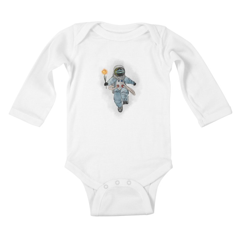 Spaceman with a Star Kids Baby Longsleeve Bodysuit by selendripity's Artist Shop
