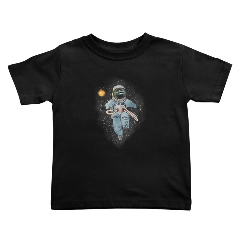 Spaceman with a Star Kids Toddler T-Shirt by selendripity's Artist Shop
