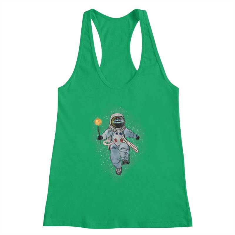 Spaceman with a Star Women's Tank by selendripity's Artist Shop