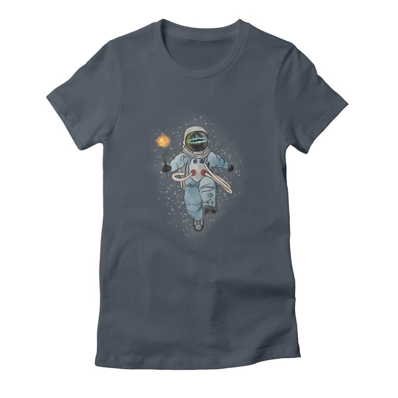 Spaceman with a Star Women's T-Shirt by selendripity's Artist Shop
