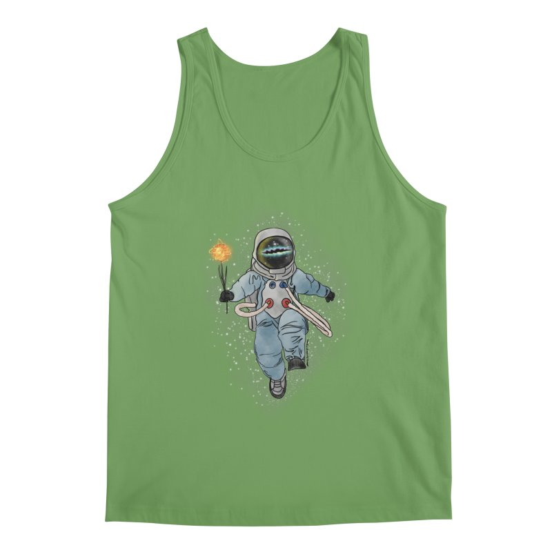 Spaceman with a Star Men's Tank by selendripity's Artist Shop