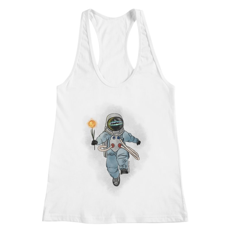 Spaceman with a Star Women's Racerback Tank by selendripity's Artist Shop