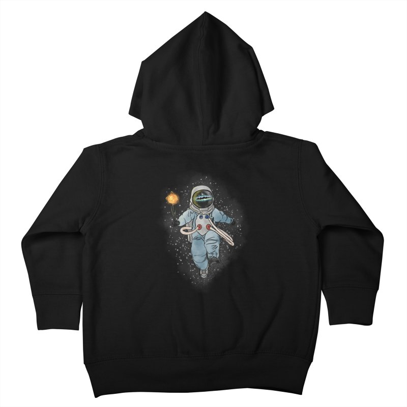 Spaceman with a Star Kids Toddler Zip-Up Hoody by selendripity's Artist Shop