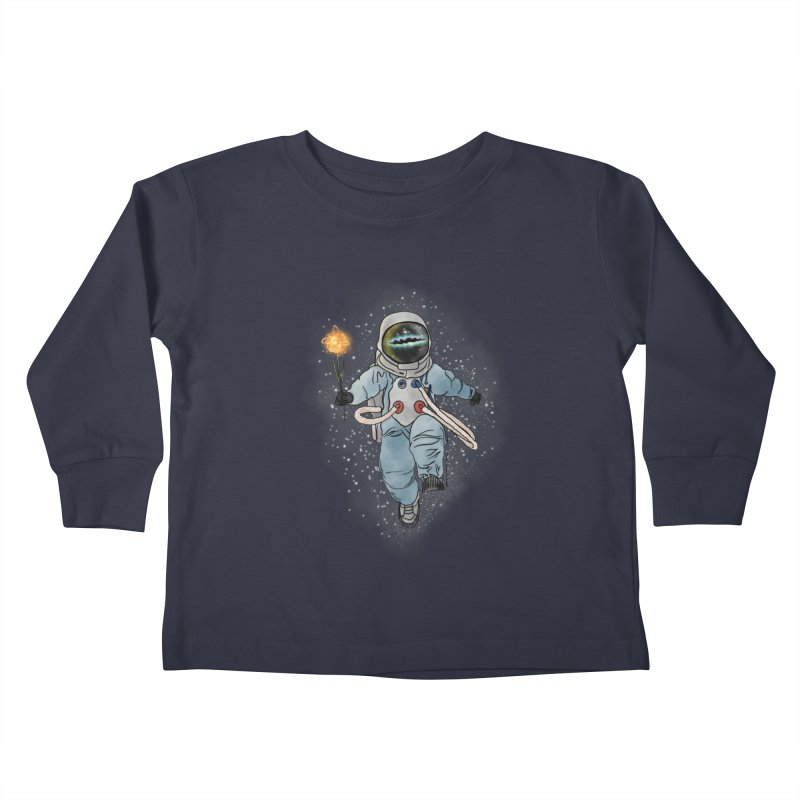 Spaceman with a Star Kids Toddler Longsleeve T-Shirt by selendripity's Artist Shop