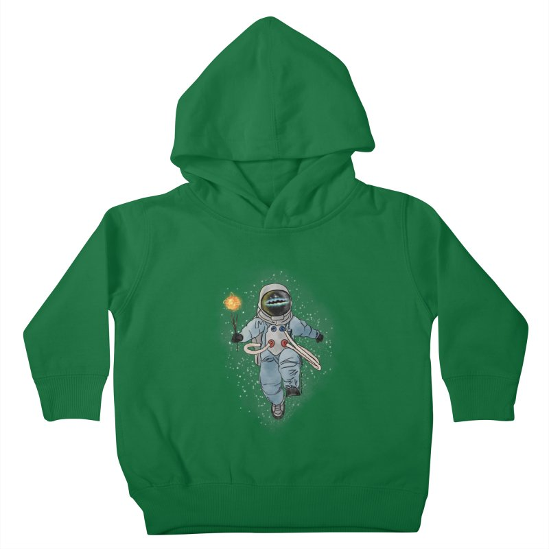 Spaceman with a Star Kids Toddler Pullover Hoody by selendripity's Artist Shop