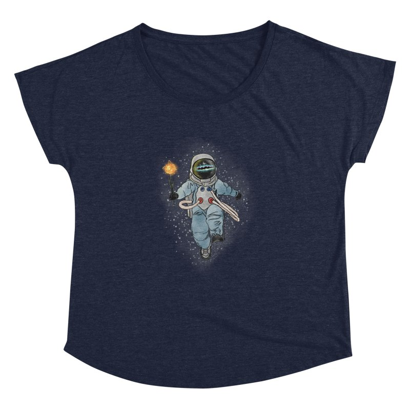 Spaceman with a Star Women's Dolman Scoop Neck by selendripity's Artist Shop