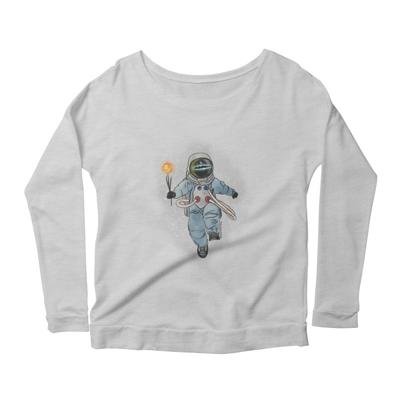Spaceman with a Star Women's Scoop Neck Longsleeve T-Shirt by selendripity's Artist Shop