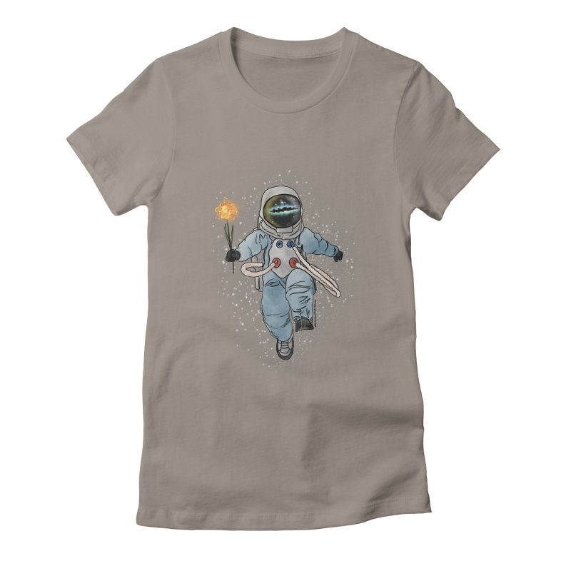 Spaceman with a Star Women's Fitted T-Shirt by selendripity's Artist Shop