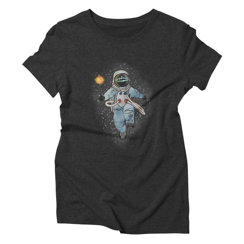 Spaceman with a Star Women's Triblend T-Shirt by selendripity's Artist Shop