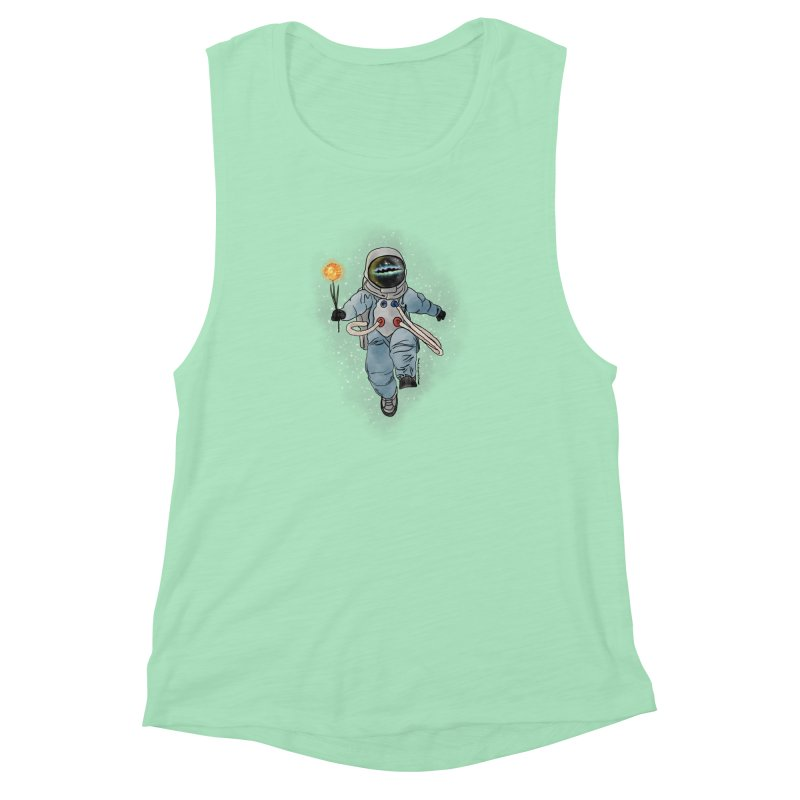 Spaceman with a Star Women's Muscle Tank by selendripity's Artist Shop