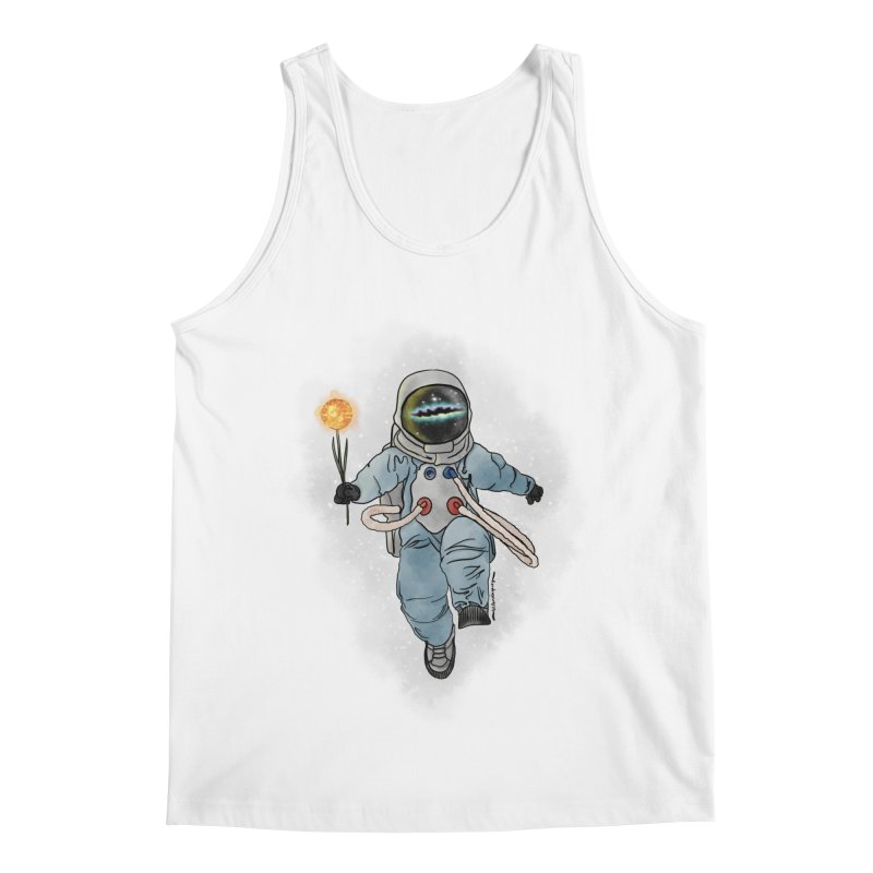 Spaceman with a Star Men's Regular Tank by selendripity's Artist Shop
