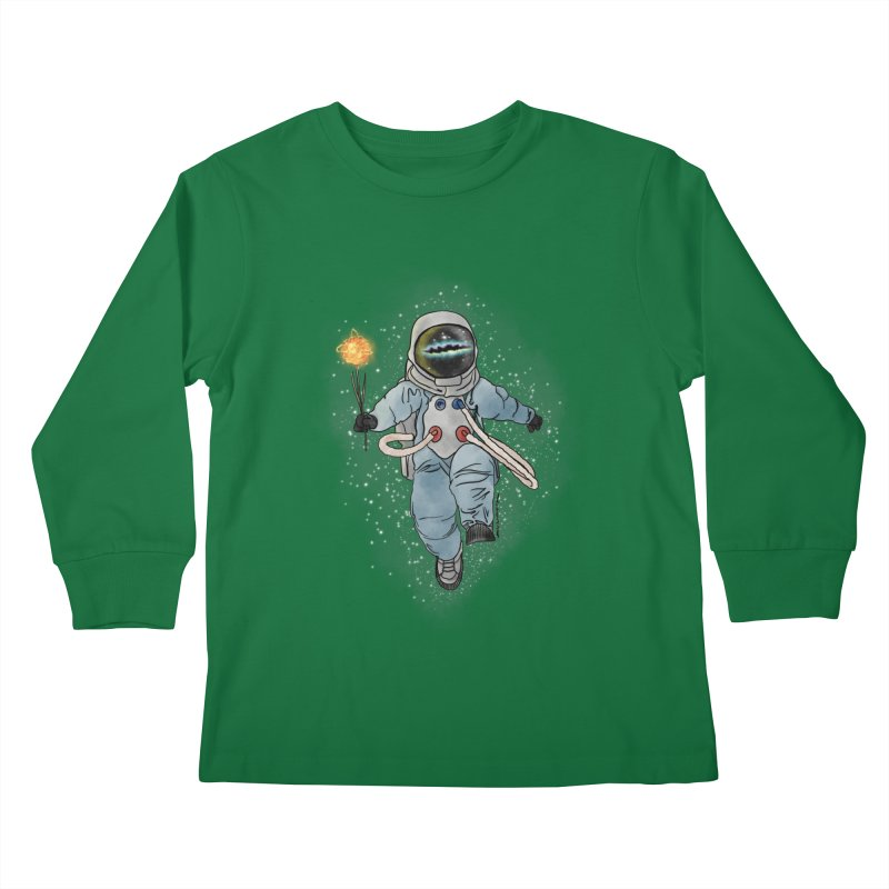 Spaceman with a Star Kids Longsleeve T-Shirt by selendripity's Artist Shop