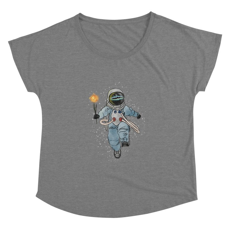 Spaceman with a Star Women's Scoop Neck by selendripity's Artist Shop