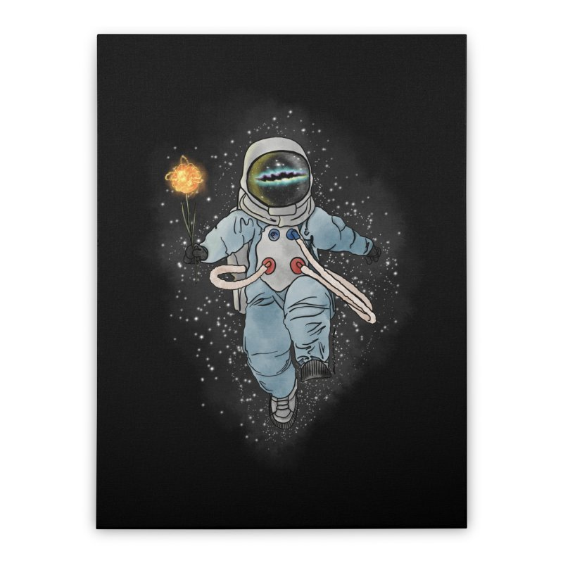 Spaceman with a Star Home Stretched Canvas by selendripity's Artist Shop