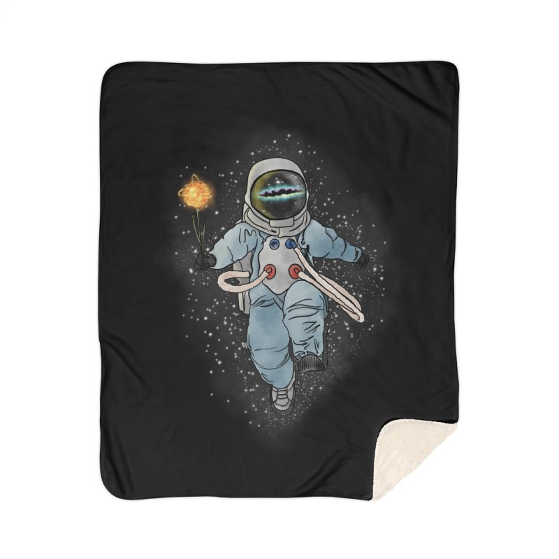 Spaceman with a Star Home Sherpa Blanket Blanket by selendripity's Artist Shop