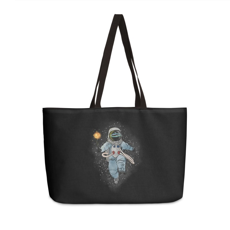 Spaceman with a Star Accessories Weekender Bag Bag by selendripity's Artist Shop