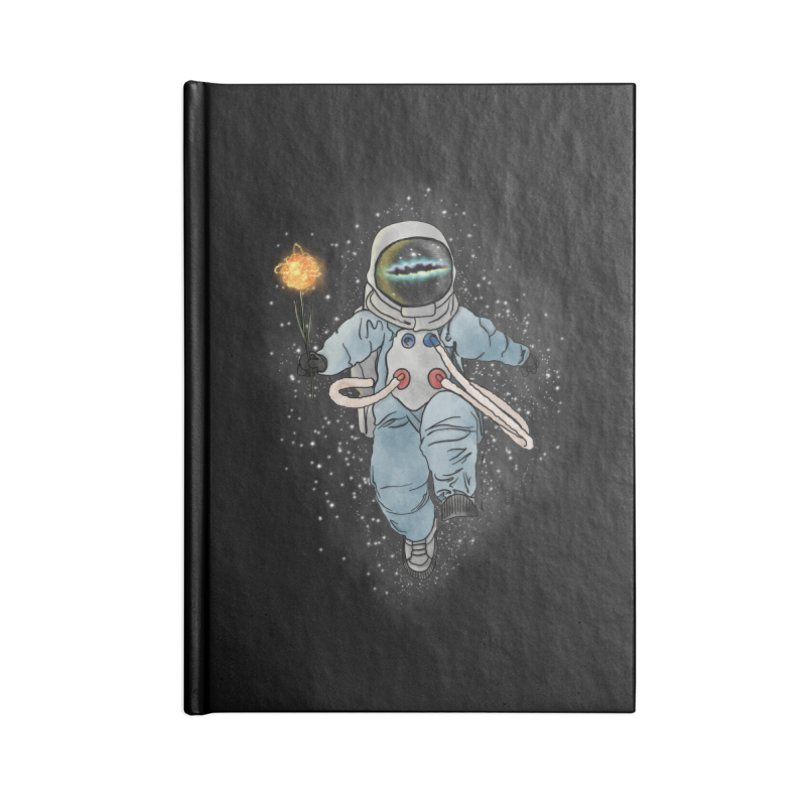 Spaceman with a Star Accessories Lined Journal Notebook by selendripity's Artist Shop