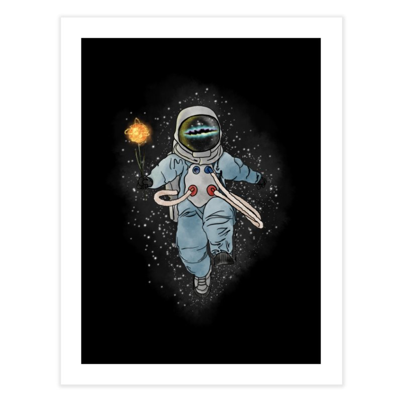 Spaceman with a Star Home Fine Art Print by selendripity's Artist Shop