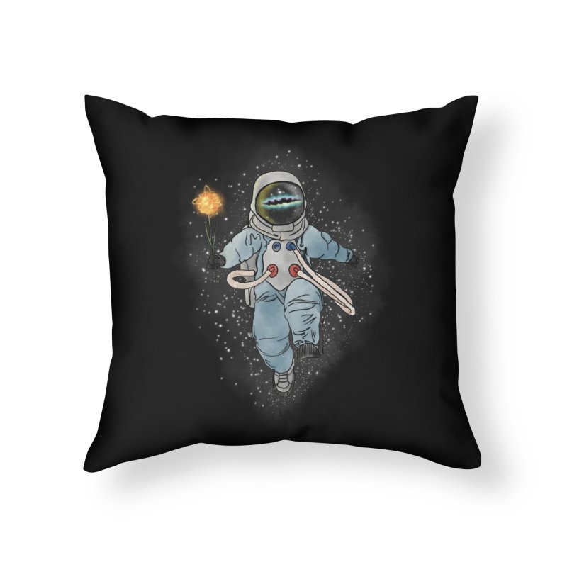 Spaceman with a Star Home Throw Pillow by selendripity's Artist Shop