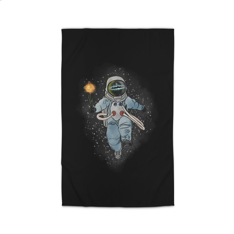 Spaceman with a Star Home Rug by selendripity's Artist Shop
