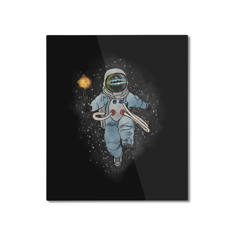 Spaceman with a Star Home Mounted Aluminum Print by selendripity's Artist Shop