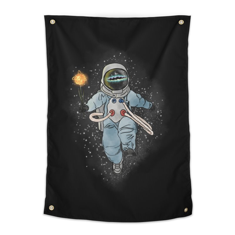 Spaceman with a Star Home Tapestry by selendripity's Artist Shop
