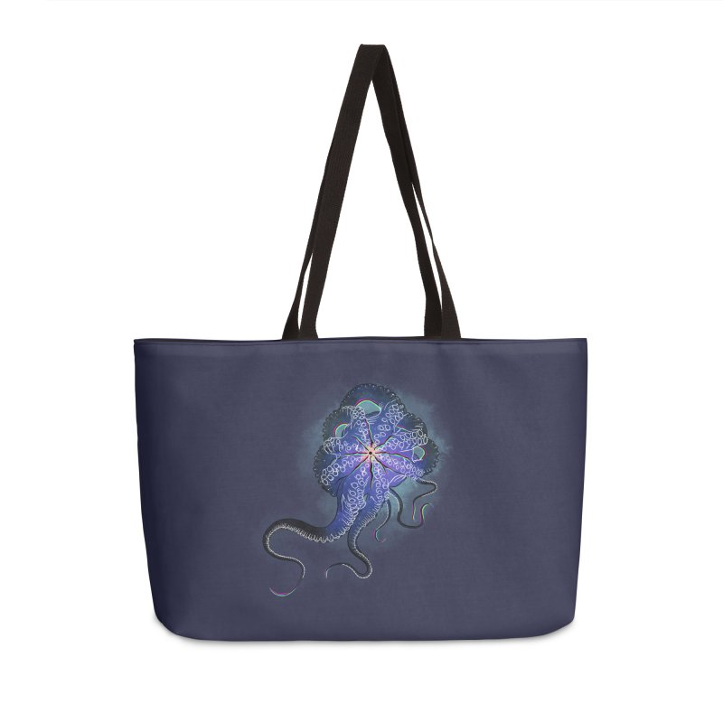 Octopus in lines with glitch effect Accessories Weekender Bag Bag by selendripity's Artist Shop