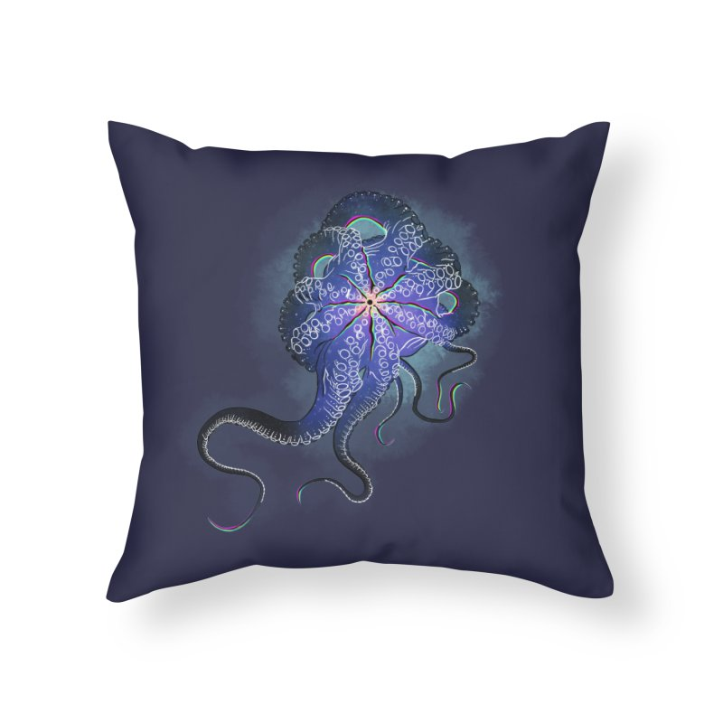 Octopus in lines with glitch effect Home Throw Pillow by selendripity's Artist Shop