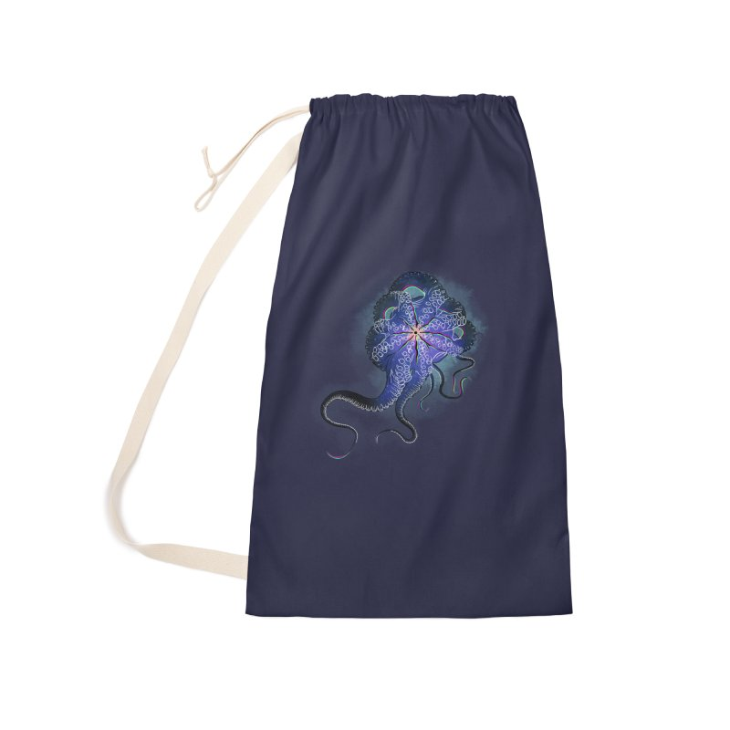 Octopus in lines with glitch effect Accessories Bag by selendripity's Artist Shop