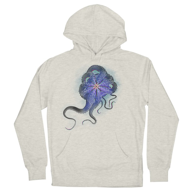 Octopus in lines with glitch effect Men's Pullover Hoody by selendripity's Artist Shop