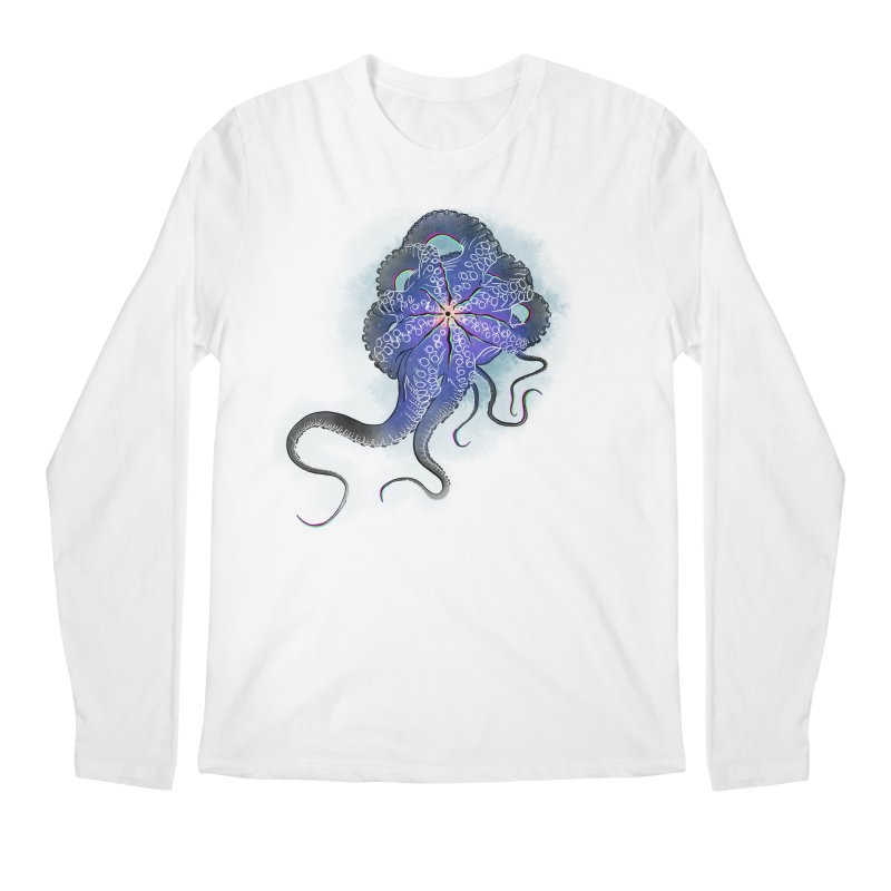 Octopus in lines with glitch effect Men's Longsleeve T-Shirt by selendripity's Artist Shop