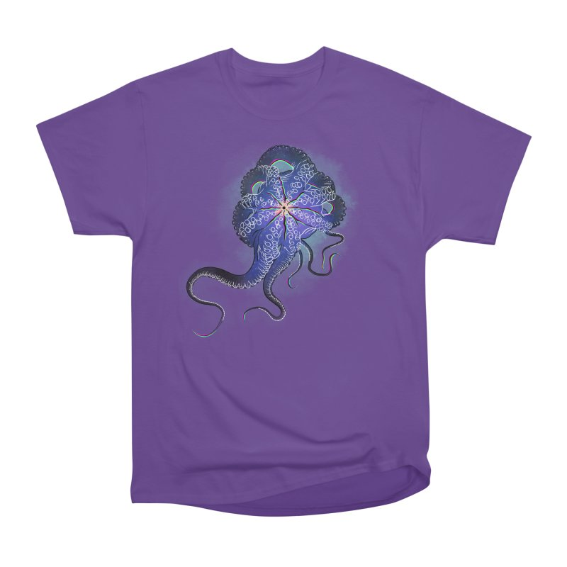 Octopus in lines with glitch effect Men's Heavyweight T-Shirt by selendripity's Artist Shop