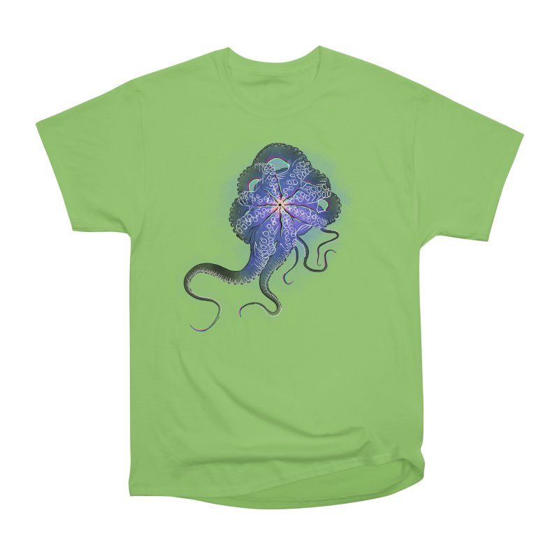 Octopus in lines with glitch effect Men's T-Shirt by selendripity's Artist Shop