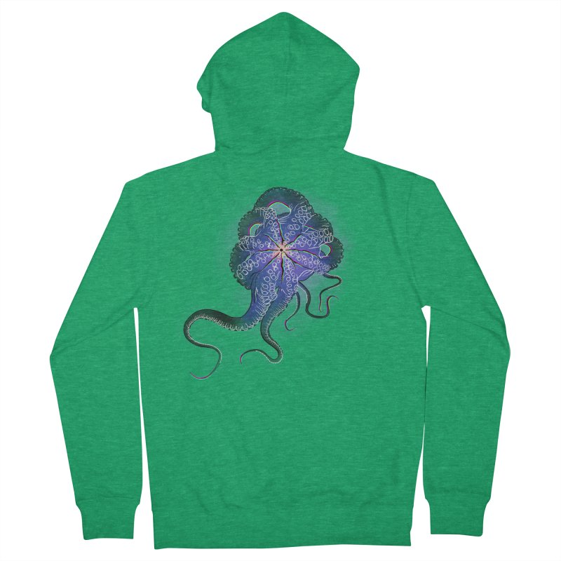 Octopus in lines with glitch effect Women's Zip-Up Hoody by selendripity's Artist Shop