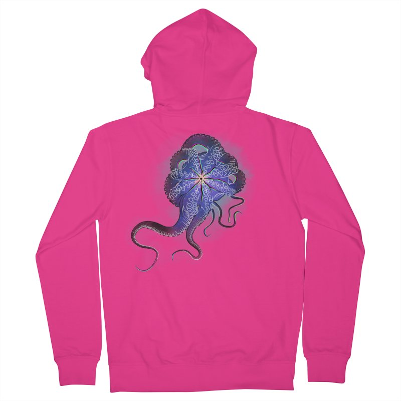 Octopus in lines with glitch effect Men's Zip-Up Hoody by selendripity's Artist Shop