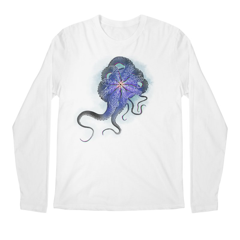 Octopus in lines with glitch effect Men's Regular Longsleeve T-Shirt by selendripity's Artist Shop