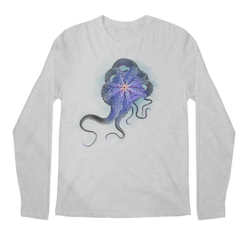 Octopus in lines with glitch effect Men's Regular Longsleeve T-Shirt by selendripity's Artist Shop