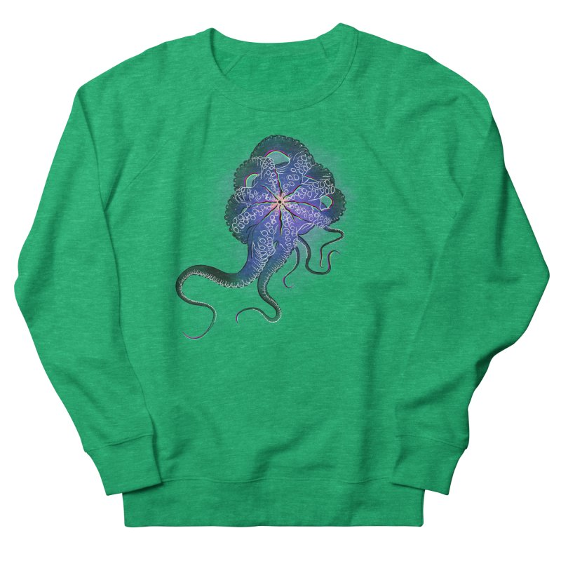 Octopus in lines with glitch effect Women's Sweatshirt by selendripity's Artist Shop
