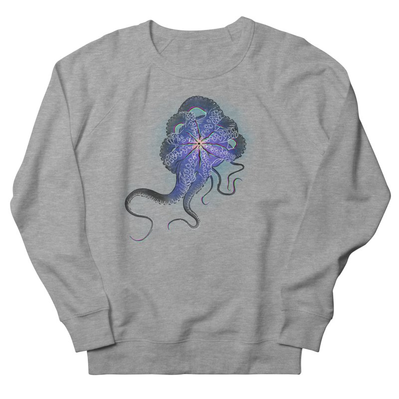 Octopus in lines with glitch effect Men's French Terry Sweatshirt by selendripity's Artist Shop