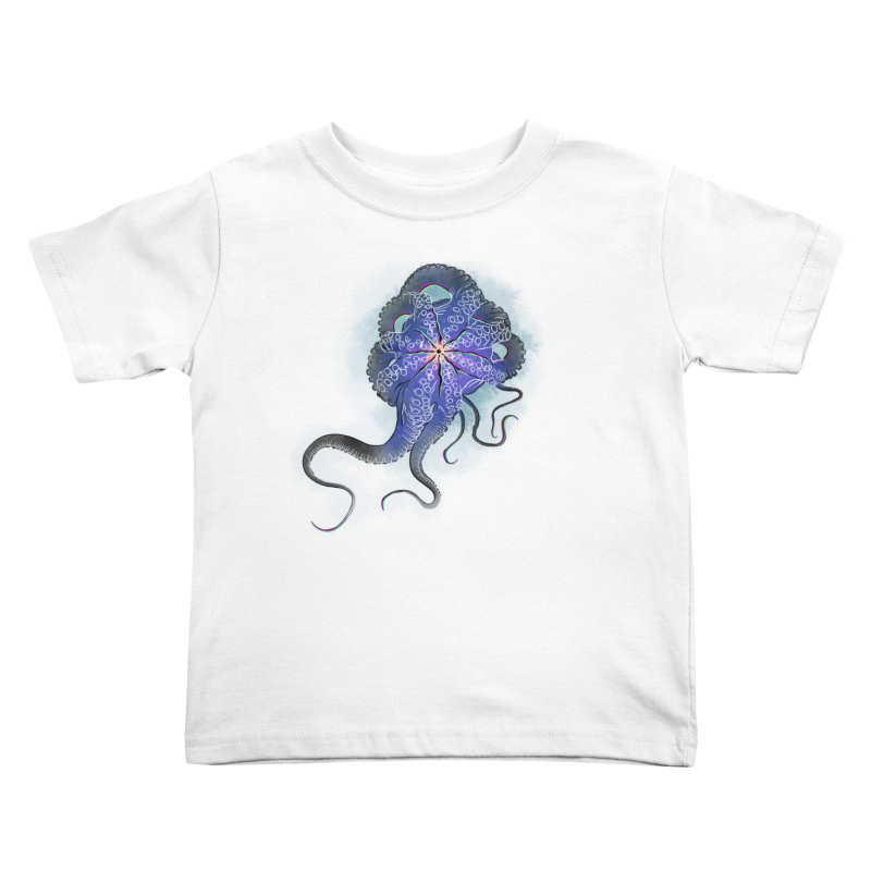 Octopus in lines with glitch effect Kids Toddler T-Shirt by selendripity's Artist Shop
