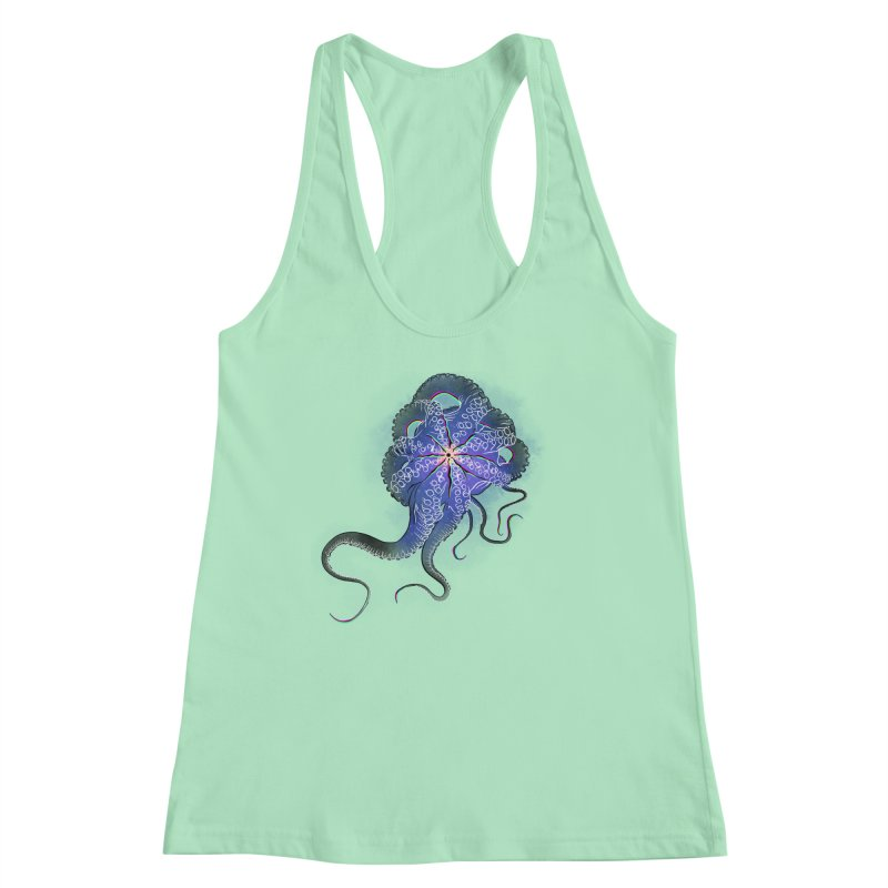 Octopus in lines with glitch effect Women's Tank by selendripity's Artist Shop