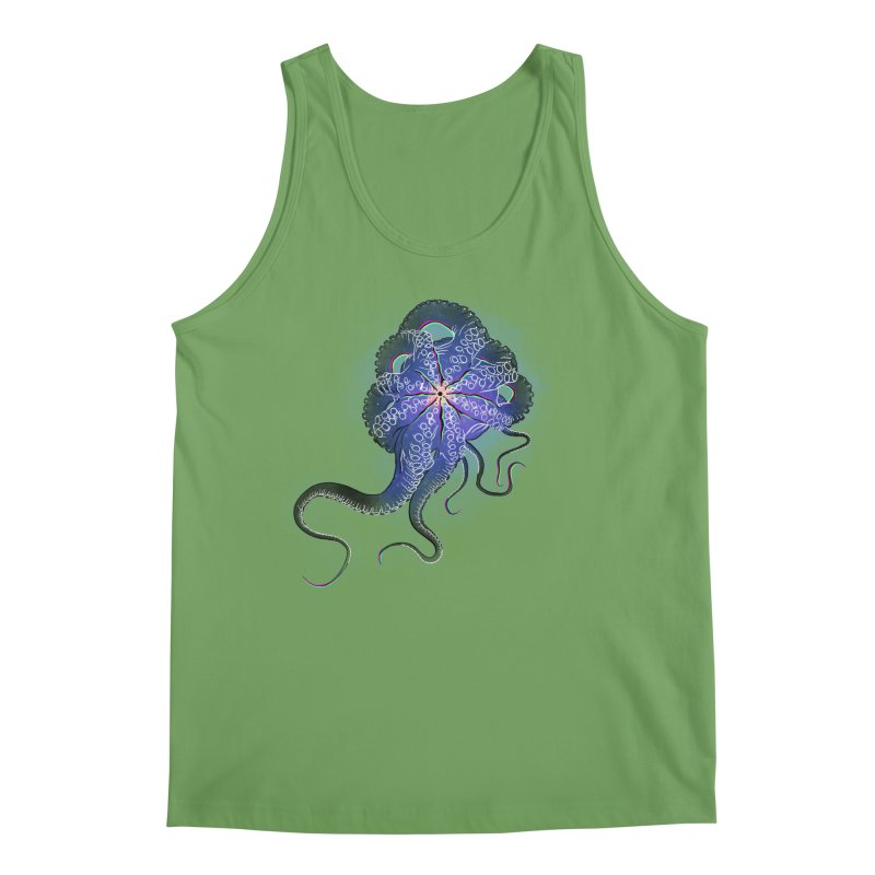 Octopus in lines with glitch effect Men's Tank by selendripity's Artist Shop
