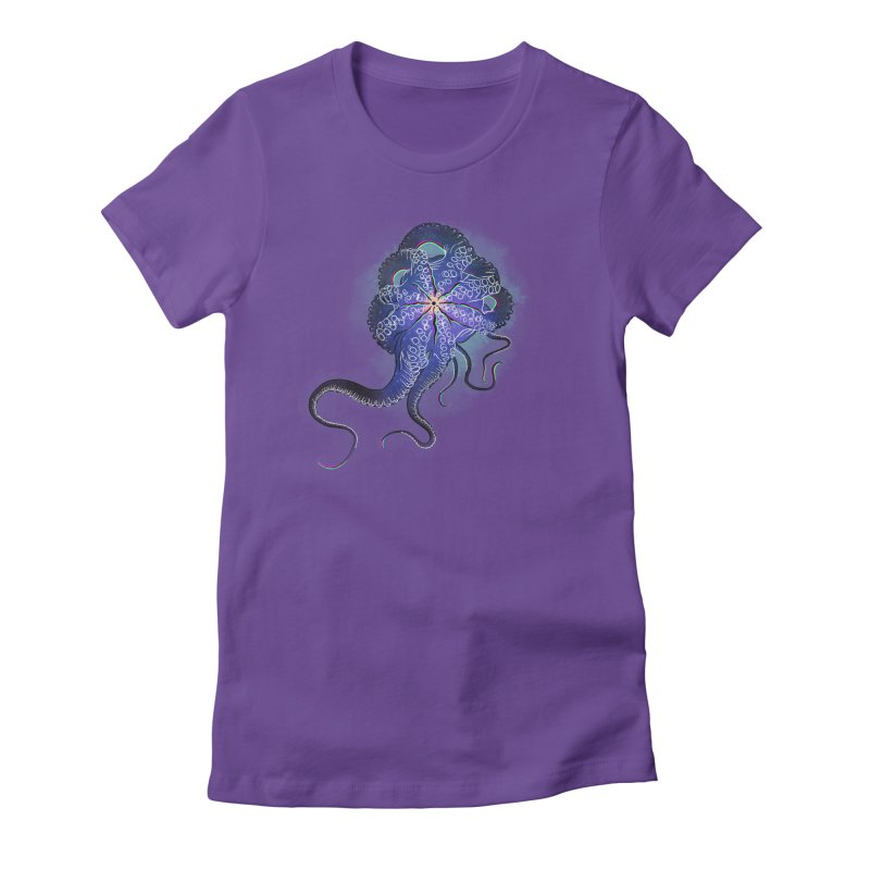 Octopus in lines with glitch effect Women's T-Shirt by selendripity's Artist Shop