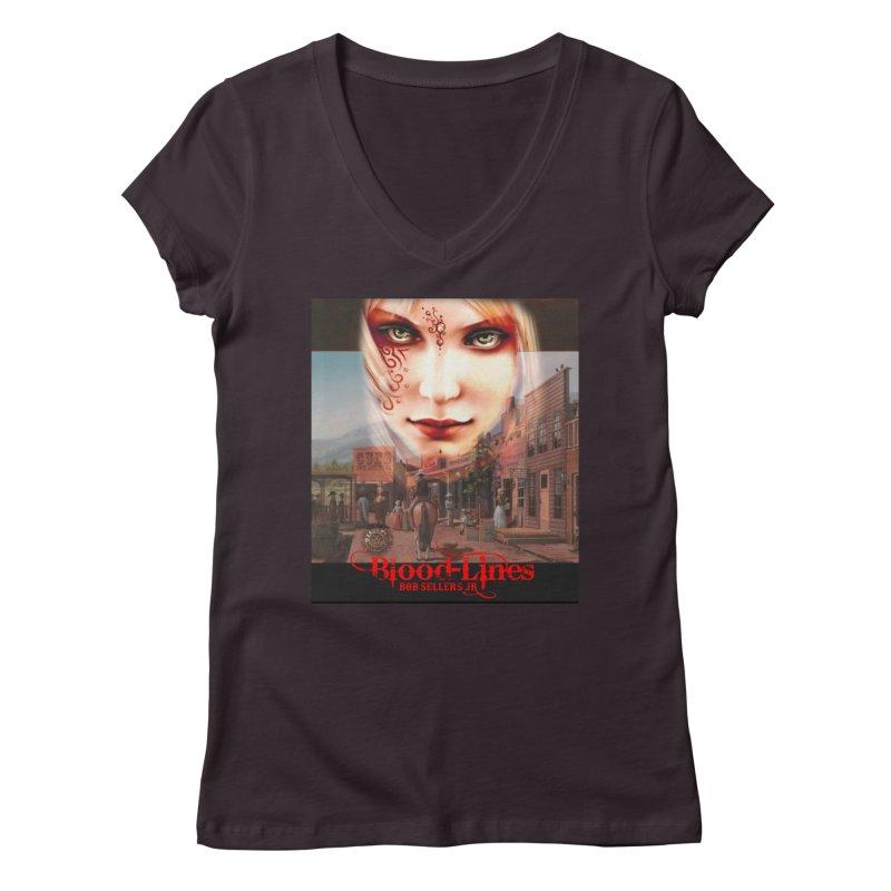 Blood-Lines Women's Regular V-Neck by sellersjr's Artist Shop