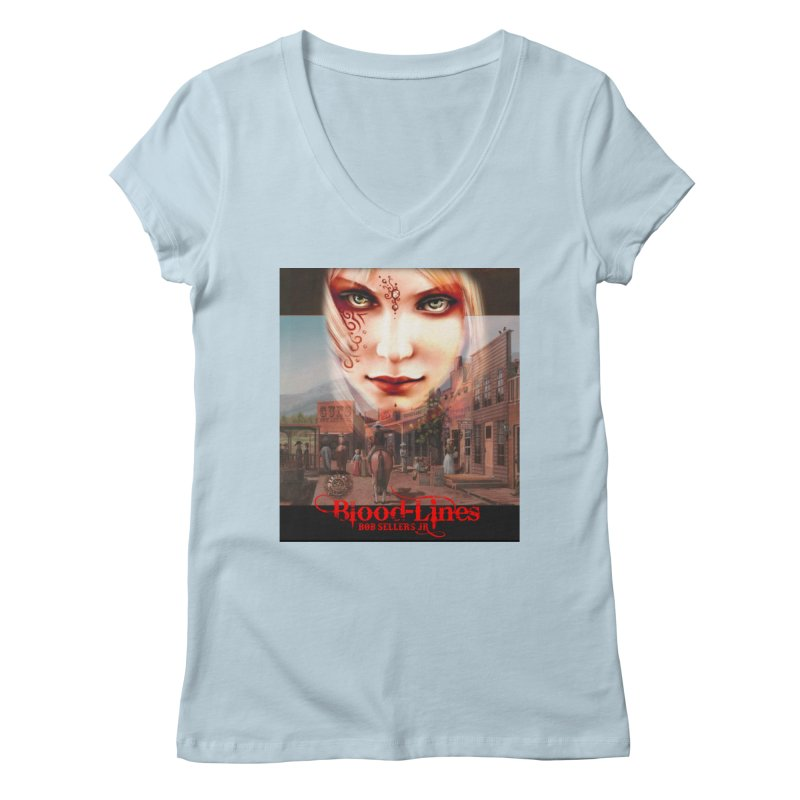 Blood-Lines Women's Regular V-Neck by sellersjr's Artist Shop