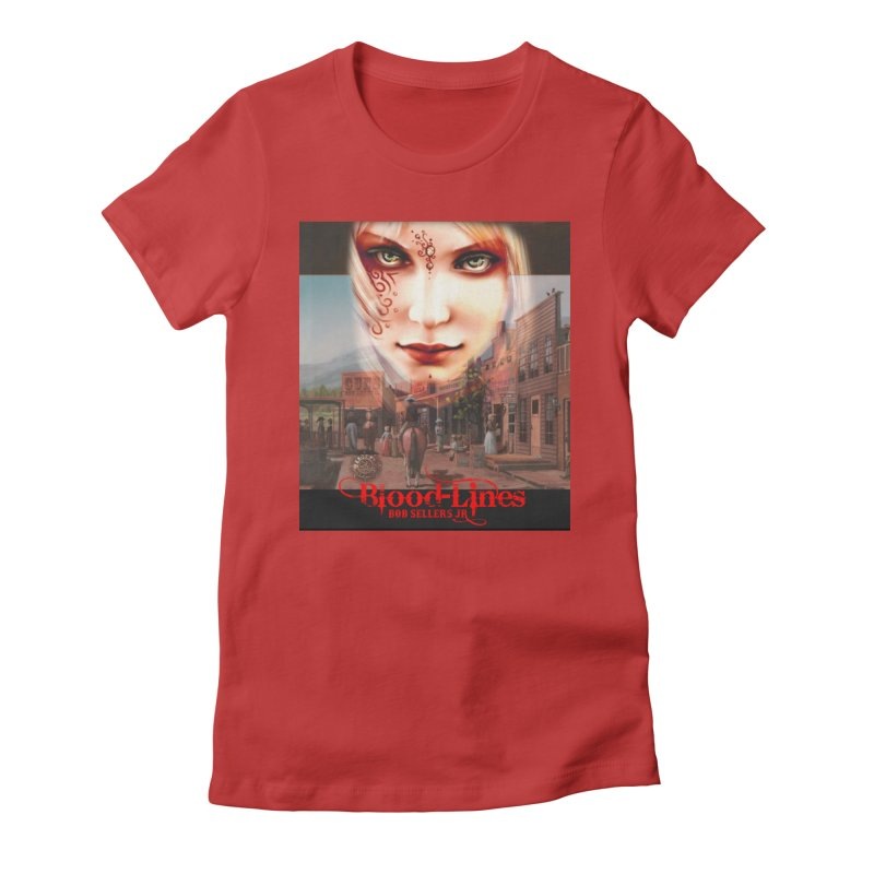 Blood-Lines Women's Fitted T-Shirt by sellersjr's Artist Shop