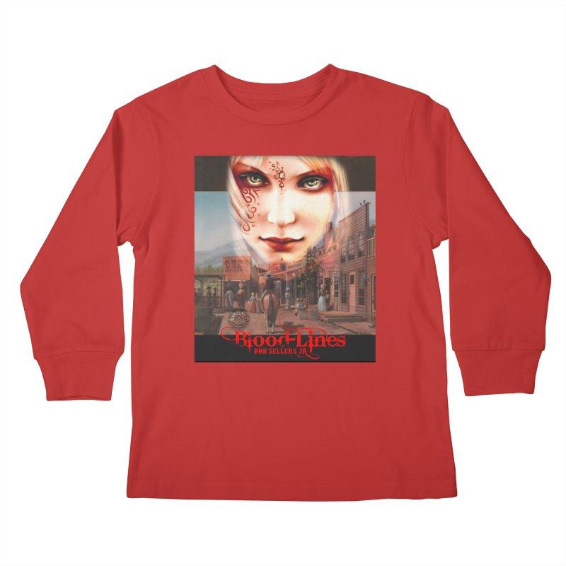 Blood-Lines Kids Longsleeve T-Shirt by sellersjr's Artist Shop