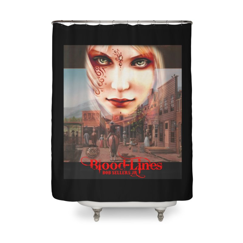 Blood-Lines Home Shower Curtain by sellersjr's Artist Shop