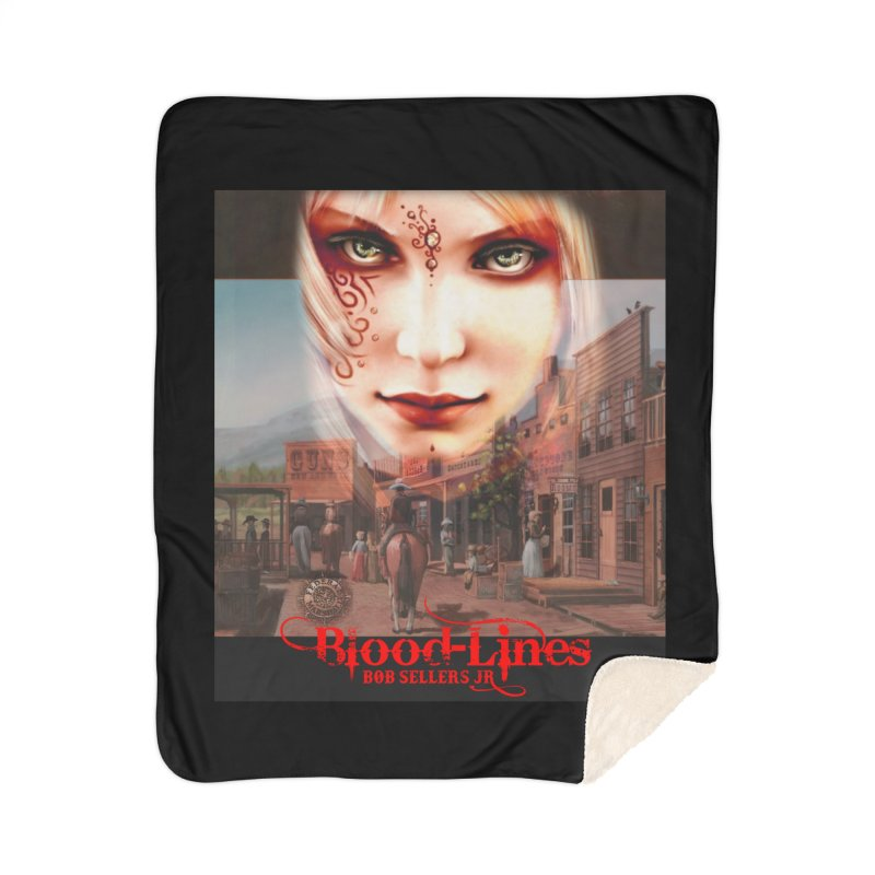 Blood-Lines Home Sherpa Blanket Blanket by sellersjr's Artist Shop