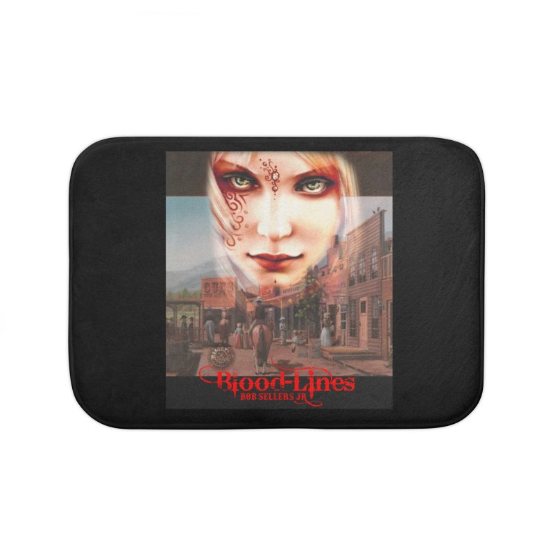 Blood-Lines Home Bath Mat by sellersjr's Artist Shop